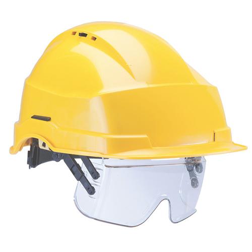 6e18ca9dca4965 Iris 2 Jaune casque avec des lunettes de protection