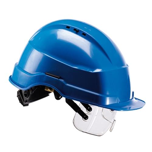 fd9aaf48db76ff Iris 2 Bleu casque avec des lunettes de protection