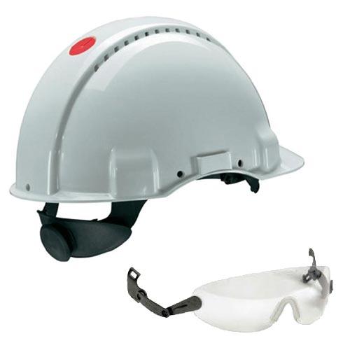 Peltor G3000 Blanc, compris lunettes integrees